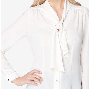 BEST PRICE! Tahari White Tie-Front Blouse -NWT!!!!
